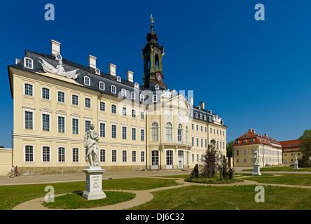 Hubertusburg Castle in Wermsdorf, Saxony, Germany - Stock Photo