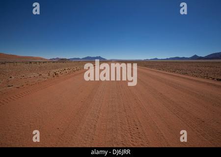 Legendary Namibian Road D707; Namibia - Stock Photo