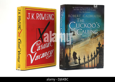 Hardback Books The Casual Vacancy and The Cuckoo's Calling Both By J.K Rowling - Stock Photo