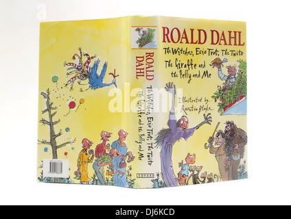 Hardback Book Of Roald Dahl Stories Illustrations By Quentin Blake - Stock Photo