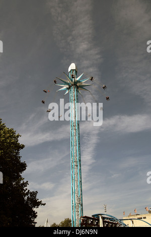 Star Flyer at a fairground on the Southbank, London, England during the Thames Festival 2012 - Stock Photo