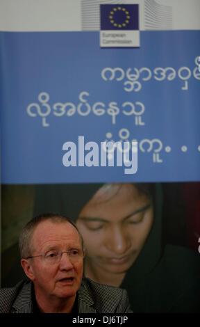 Yangon, Myanmar. 23rd Nov, 2013. Claus Haugaard Sorensen, director-General of the Humanitarian Aid and Civil Protection - Stock Photo
