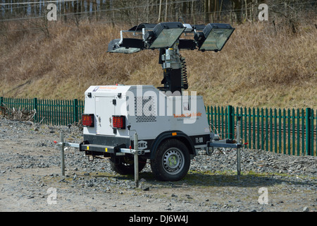 Torrent Trackside mobile lighting tower. Lowgill, Cumbria, England, United Kingdom, Europe. - Stock Photo