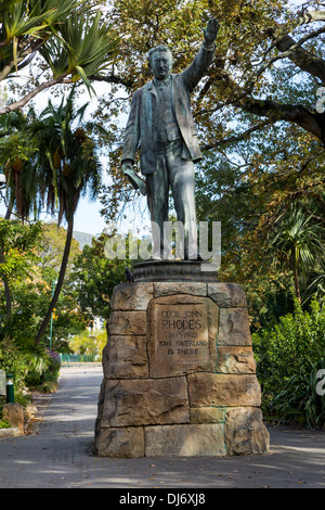 South Africa, Cape Town. Statue to Cecil Rhodes, in The Company's Garden, established by the Dutch East India Company - Stock Photo