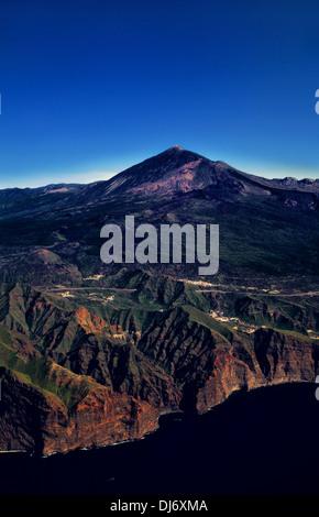 Volcano Teide, Los Gigantes, Island Tenerife, Canary Islands, Spain - Stock Photo