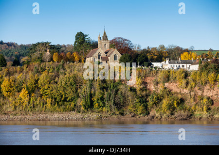 The church of St Peters in the village of Newnham on the banks of the river Severn in Gloucestershire. - Stock Photo