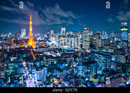 Tokyo Tower in Tokyo, Japan - Stock Photo