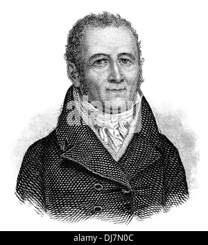 Johann Peter Hebel, 1760 - 1826, a German poet, a Protestant theologian and educator, Alemannic dialect poet, - Stock Photo