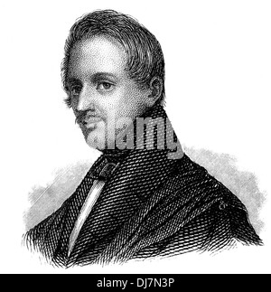 Karl Ferdinand Gutzkow, 1811 - 1878, a German writer, playwright and journalist, - Stock Photo