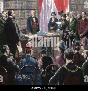 The Troubles. William Ewart Gladstone (1809-1898). British Liberal Politician. - Stock Photo