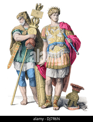 Pre Christian BC Ancient Roman commander, leader and Germanic Standard bearer - Stock Photo
