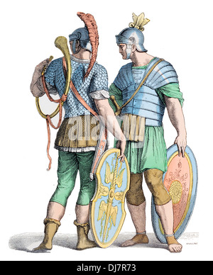 Pre Christian BC Ancient Roman soldiers - Stock Photo