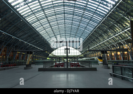 London England Uk St Pancras Eurostar - Stock Photo