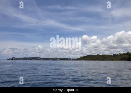 Andaman sea, Jolly Buoy beach, Andaman Islands, India - Stock Photo