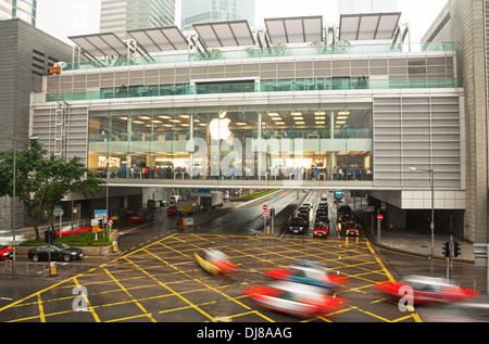 first Apple Store in Hong Kong. - Stock Photo