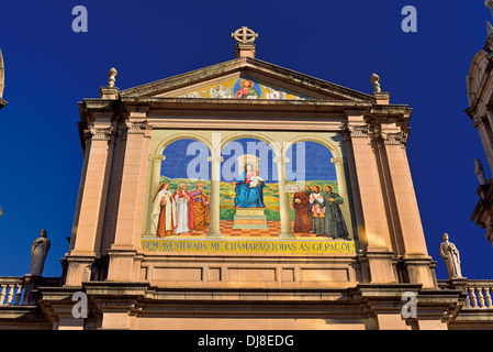 Brazil, Porto Alegre: Outdoor painting of the Cathedral Our Lady Mother of God - Stock Photo