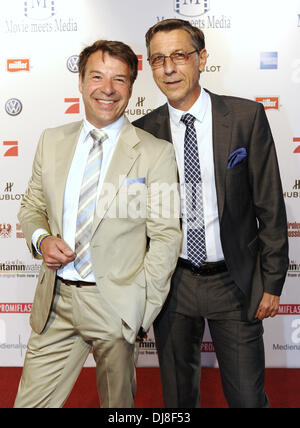Patrick Lindner and Peter Schaefer at 'Movie meets Media' at P1 bar & club. Munich, Germany - 02.07.2012 - Stock Photo