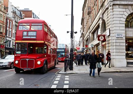 Picadilly Street, London, England, UK, Christmas, Shopping, Winter - Stock Photo