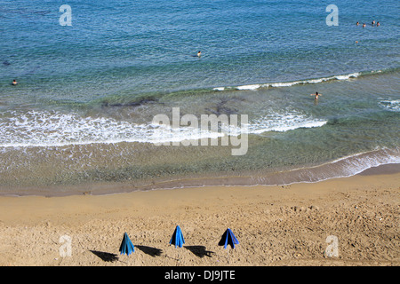 Beach of Bali lagoon on the north part of Crete, Greece - Stock Photo