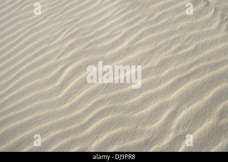 Close up of sand on a beach, showing the natural ripples. - Stock Photo