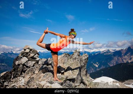 Summit Yoga - Stock Photo
