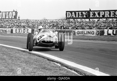 Harry Schell in the Yeoman Credit team Cooper T51 Climax at Madgwick Goodwood, England Easter Monday 18 April 1960. - Stock Photo