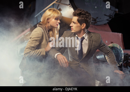 Nice picture of lovely classic couple - Stock Photo