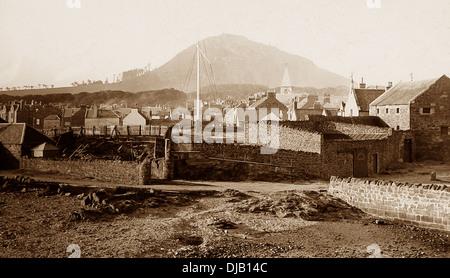 North Berwick Law Victorian period - Stock Photo