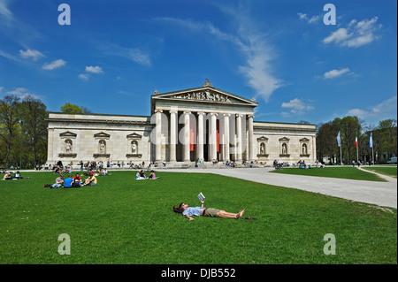 Glyptothek, Munich, Bavaria, Germany - Stock Photo