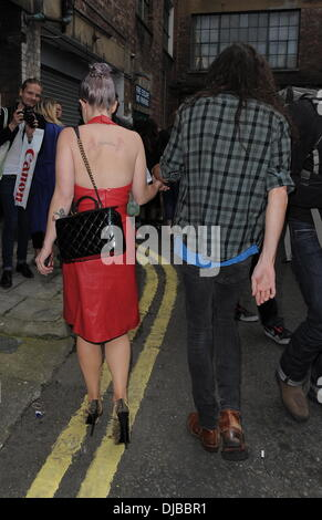 Kelly Osbourne and Matthew Mosshart London Fashion Week Spring/Summer 2013 - House Of Holland - Outside Arrivals. - Stock Photo