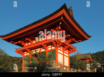 Japan, Kyoto, Kiyomizu-dera Temple, Nio-mon Gate, - Stock Photo
