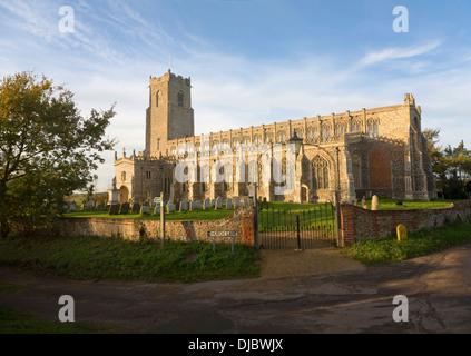 Holy Trinity church Blythburgh, Suffolk, England - Stock Photo