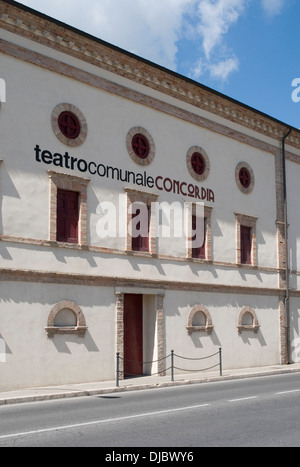 Concordia Theatre, San Benedetto del Tronto, Marche, Italy - Stock Photo