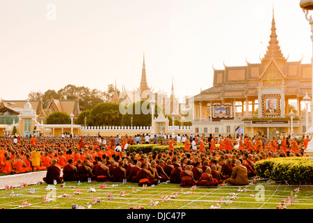 Cambodia commemorating former King Sihanouk who died in Beijing on the 15th of October 2012. Phnom Penh, 26th of - Stock Photo