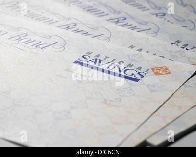 Premium Bond Certificates - Stock Photo
