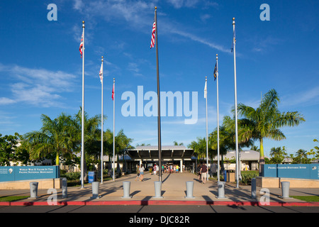 Pearl Harbor Visitors Center, World War II Valor in the Pacific National Monument, Oahu, Hawaii - Stock Photo