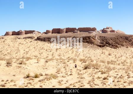 Ayaz Kala Fortress 1, Ayaz Kala, Khorezm, Uzbekistan - Stock Photo
