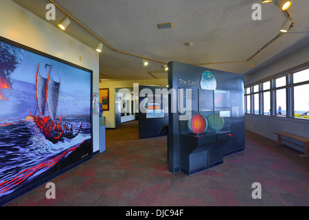 Jagger Museum, Halemaumau Crater, Kilauea Volcano, HVNP, Big Island of Hawaii - Stock Photo