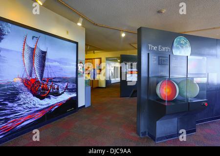 Jagger Museum, Halemaumau Crater, Kilauea Volcano, HVNP, Big Island of Hawaii - Stock Photo