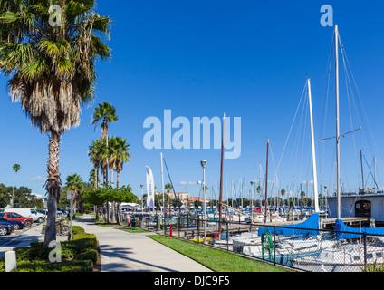 The Marina and waterfront, St Petersburg, Florida, USA - Stock Photo