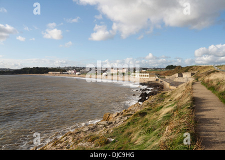Whitmore Bay and Beach in Barry Island, Wales - Stock Photo