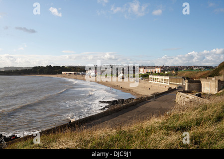 Whitmore Bay and Beach in Barry Island, Wales, welsh coast - Stock Photo
