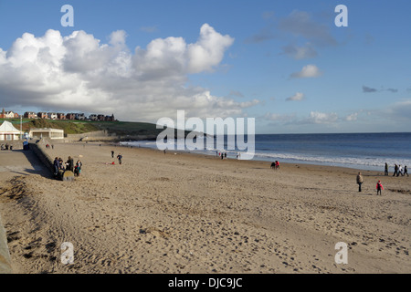 Whitmore Bay and Beach in Barry Island, Wales Coast - Stock Photo