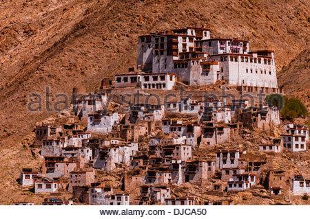 Chemrey Monastery, Ladakh, Jammu and Kashmir State, India. - Stock Photo