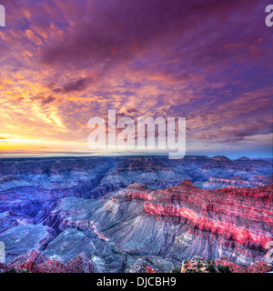 Arizona sunset Grand Canyon National Park Mother Point in USA - Stock Photo