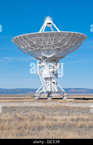 One of 27 radio telescopes located at the Very Large Array. - Stock Photo