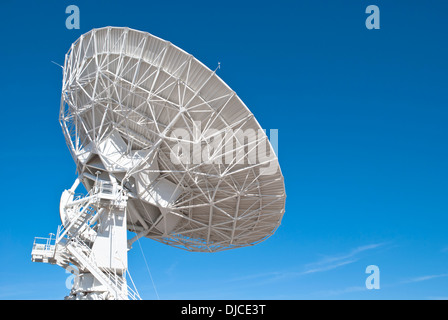One of 27 radio telescopes located at the Very Large Array - Stock Photo