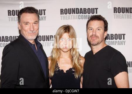 Patrick Page, Clemence Poesy and Douglas Hodge Broadway cast Stock
