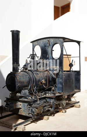 historic steam locomotive, used for agriculture, sant francesc de formentera, formentera, spain - Stock Photo