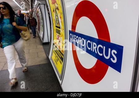 London underground, Oxford Circus - Stock Photo